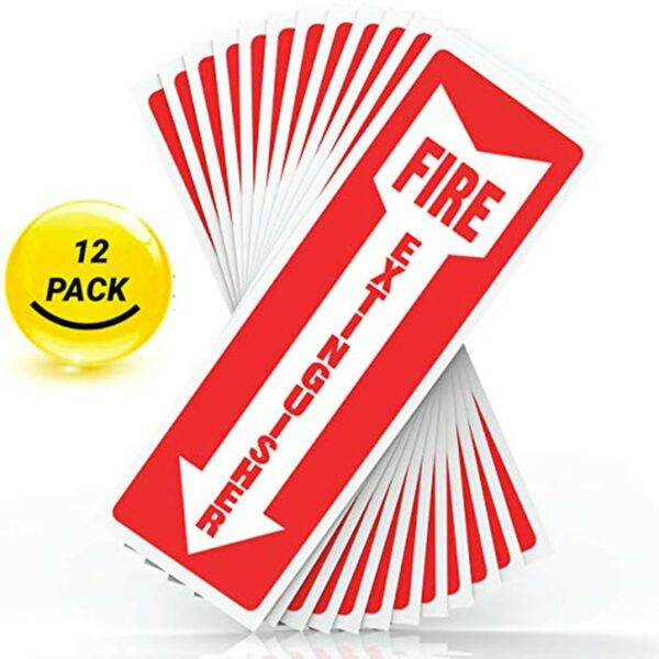 Fire Extinguisher Sign Sticker Safety Signs - Set of 12 4