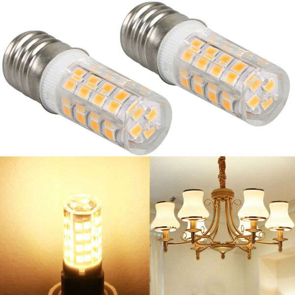 2Pcs Microwave LED Replacement Light Bulb fit Appliance E17 Socket 4W Oven Bulbs