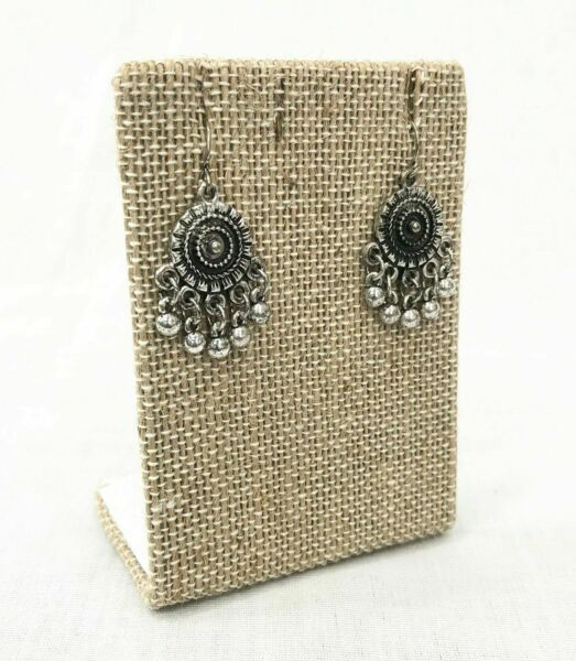 NECKLACE or EARRING JEWELRY DISPLAY STAND Linen Burlap Jewelry Holder 1 Piece