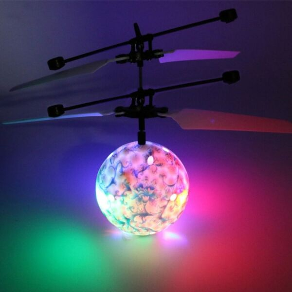 Blue and White RC Flying Balls Drone Helicopter Ball LED Lighting for Kids Toy