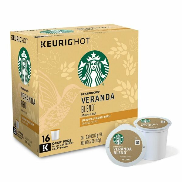 96 K Cups - Starbucks Veranda Blend Coffee - Sealed Boxes - Blonde Roast - 2.0