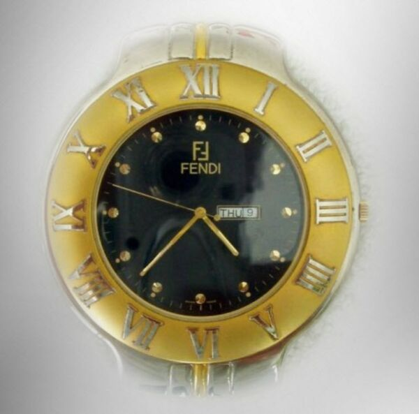 Fendi shelf clock with retractable stand day and date $250.60