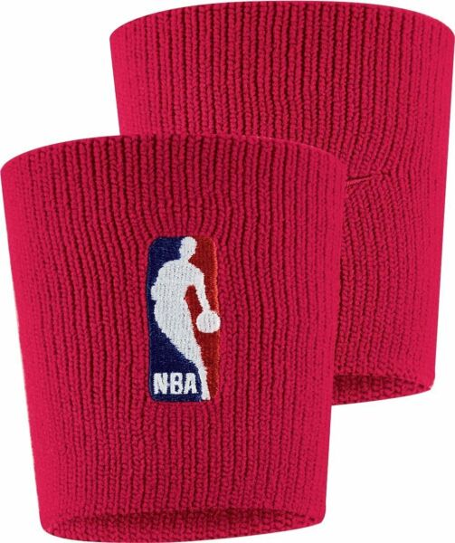 NIKE Elite Wristbands Dri Fit NBA Rockets Red Color *NEW* Wristbands Nylon