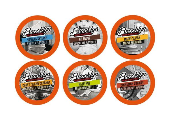 Brooklyn Beans Flavored Coffee Variety Pack Pods For Keurig K Cups Coffee Maker