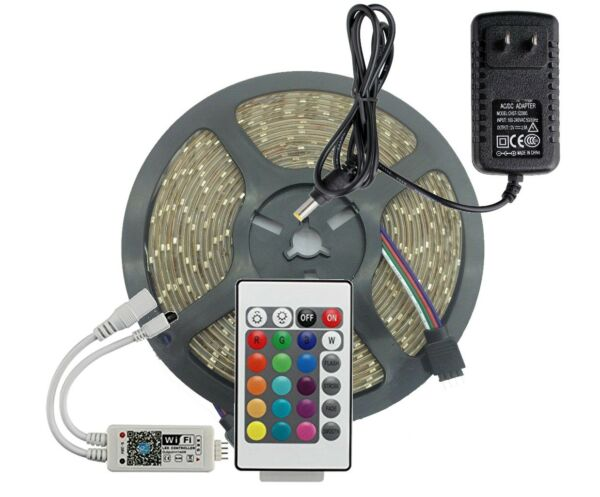 RV Awning LED light set wth WifiIR and 24 key remote and receiver 5050  12 feet