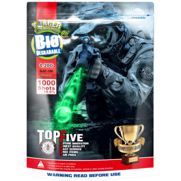 Gamp;G .20g Biodegradable Airsoft Green Glow in the Dark Tracer BBs 1000rd G 07 189 $14.95
