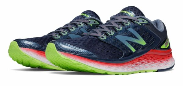 New Balance Men's Fresh Foam 1080v6 Shoes Grey with Red & Green