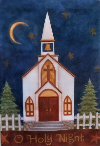 O Holy Night Standard House Flag by Toland #6119  28