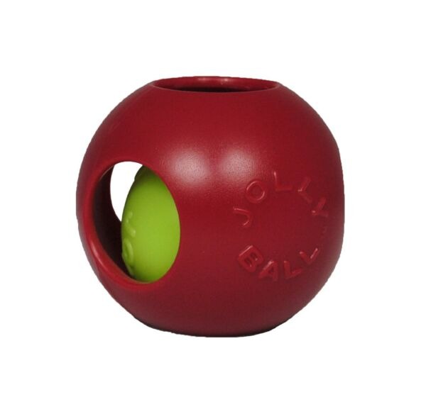 Jolly Pets Teaser Ball Erratic Interactive Tough Dog Chew Toy Red 4.5 inch