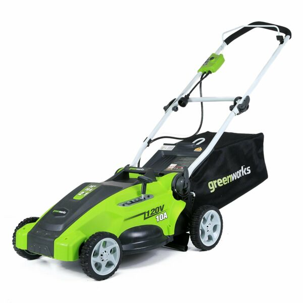 Electric Lawn Mower Corded Push Grass Mowers Mowing Machine Clearance Greenworks