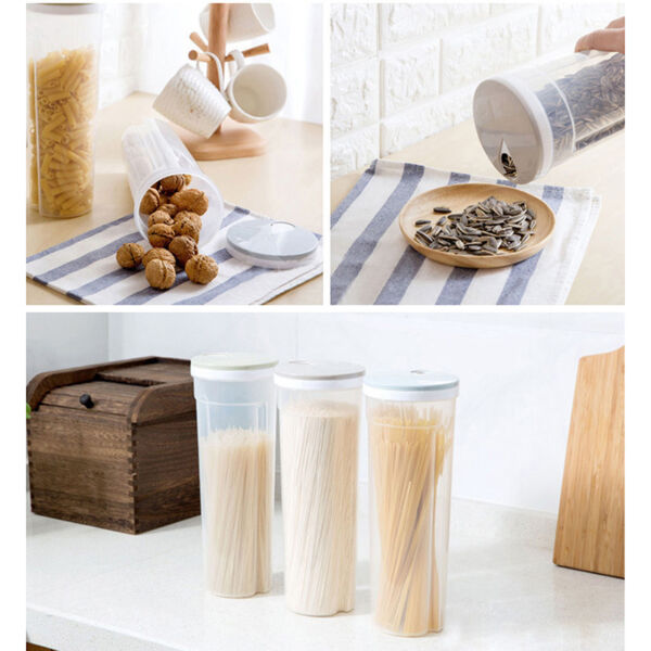 Storage Kitchen Pasta Box Pantry Cereal Container Food Beans Spaghetti Case New