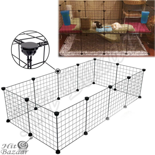 PET PLAYPEN HEAVY Duty Metal Cage Crate 12-Panel Dog Fence Portable Wire Kennel
