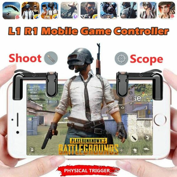 PUBG Mobile Phone Gaming Button Free Fire L1 R1 Mobile Game Controller Shoot