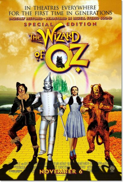The Wizard of Oz Special Edition Judy Garland Vintage Movie Poster Reproduction