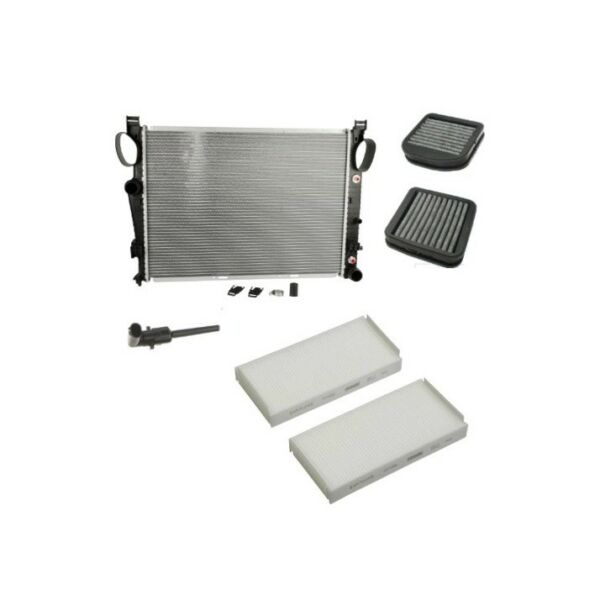 Radiator Set of Cabin Air Filters & Coolant Sensor For: Mercedes CL500 S430 S500