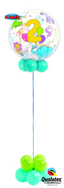 1st-3rd Child Bubble Birthday Balloon Display Table Centrepiece Party Decoration