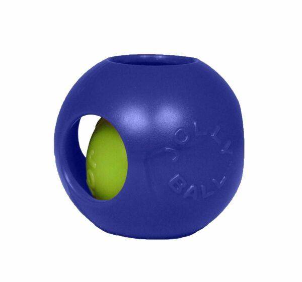 Jolly Pets Teaser Ball 6 inch Blue  Hard Plastic plus Squeaker Toy for Dogs $13.88