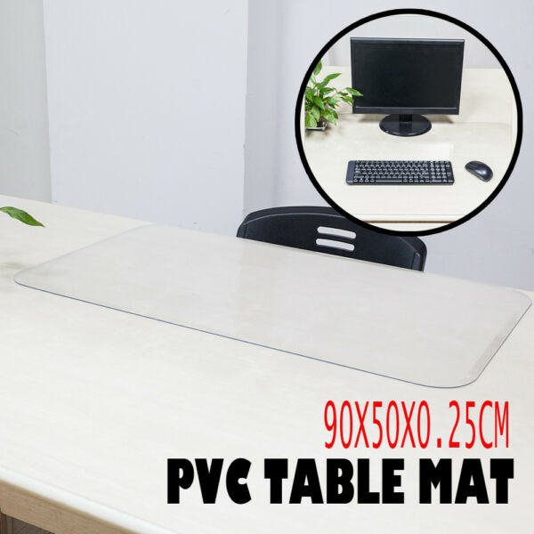 PVC Table Mat For Office Computer Desk Home Placemat Kitchen Pad Transparency US