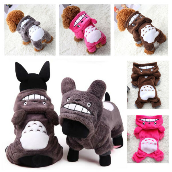 Warm Totoro Hoodie Costume Apparel Dog Puppy Clothes Cat Pet Jacket Coat Sweater $8.99