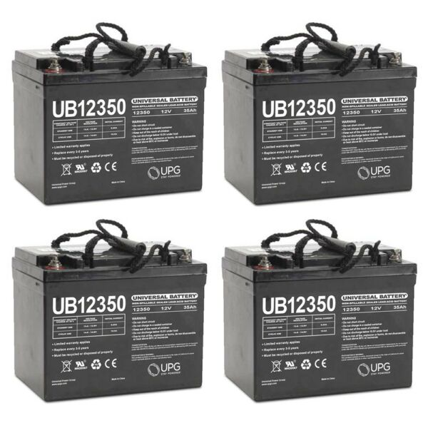 UPG UB12350 12V 35AH Internal Thread Battery for GRV Iron Remote Motor - 4 Pack
