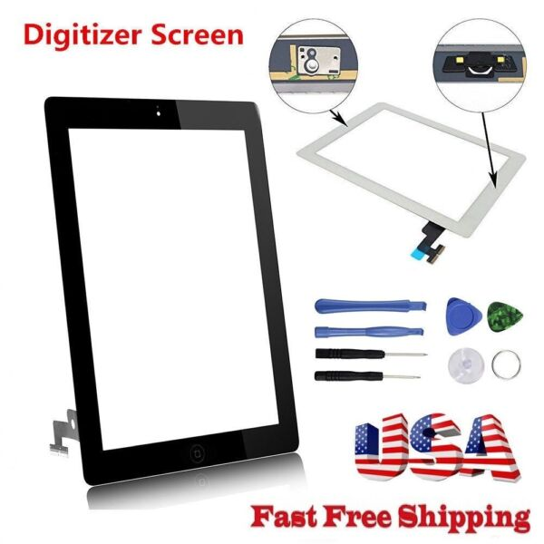 OEM For iPad 2 3 4 Air Mini 1 2 3 Touch Screen Digitizer Replacement w Adhesive
