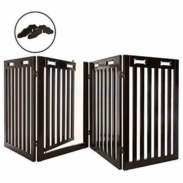 Arf Pets Free Standing Wood Dog Gate Upgraded 2019 Stronger Model