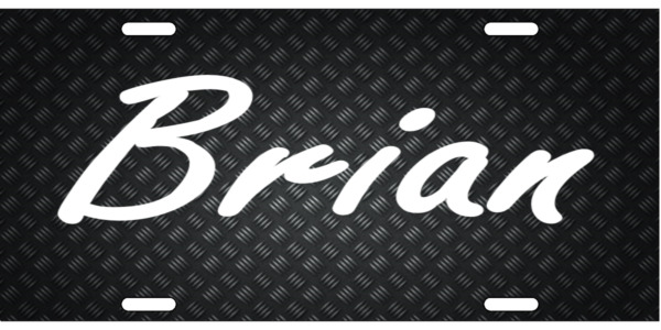 Personalized Carbon Pattern License Plate Car Tag Initials Custom Pick Colors $10.99