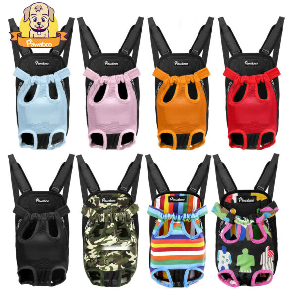 PAWABOO Pet Front Cat Dog Carrier Backpack Travel Hiking Adjustable Bag Legs Out $13.99