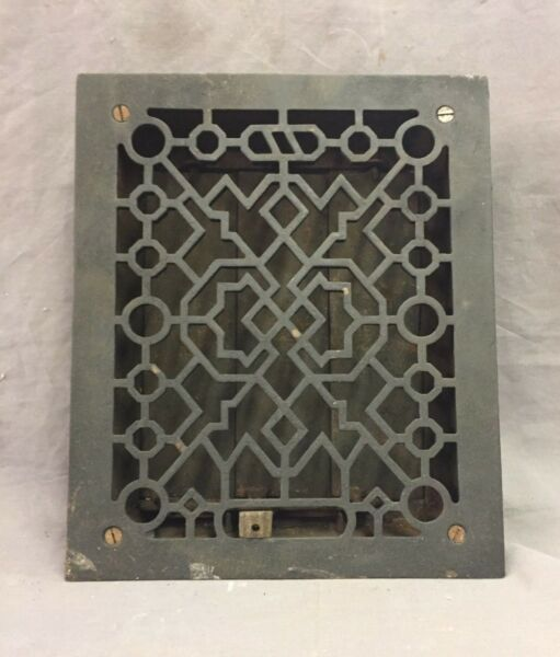 Antique Cast Iron Decorative Heat Grate Floor Register 8X10 Vintage Old 27-19D