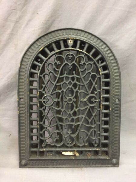 Antique Cast Iron Arch Decorative Heat Grate Wall Register 9X12 Dome Vtg  42-19D