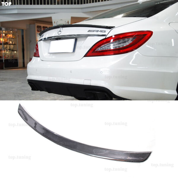 For Mercedes BENZ W218 CLS63 Amg Style Rear Spoiler Wing Dry Carbon Gloss Finish $148.72