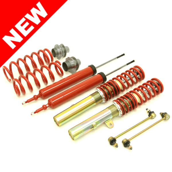 RSK STREET ADJUSTABLE COILOVER KIT - BMW E90 E91 E92 3-SERIES - RED