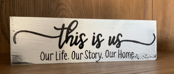 Rustic Wood Sign THIS IS US Life Family Welcome Farmhouse Home Decor