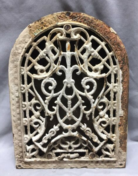 Antique Cast Iron Arch Decorative Heat Grate Wall Register 9X12 Dome Vtg  62-19D