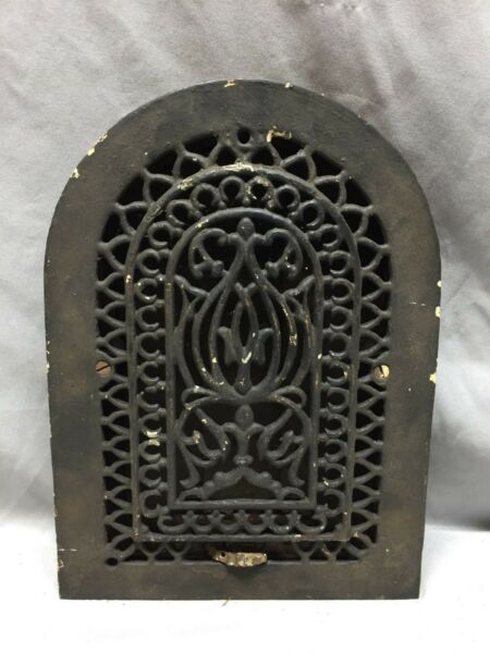 Antique Cast Iron Arch Decorative Heat Grate Wall Register 8X12 Dome Vtg  63-19D