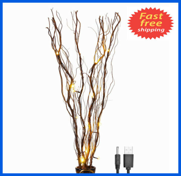 16LED Branch Decorative Lights Tall Vase Filler Willow Twig for Home decoration