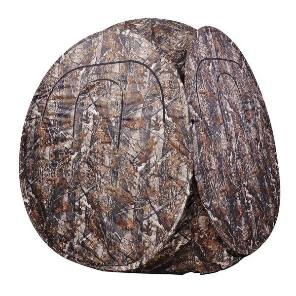 2 Person Portable Camo Pop Up Ground Hunting Blind Outdoor Camping Hiking Tent