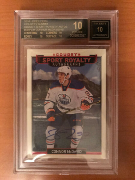 2016 Industry Summitt #SRPCM Connor McDavid 1415 BGS (Black Label) 10 Pristine!