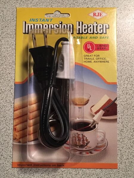 INSTANT Immersion Heater ~ TRAVEL OFFICE HOME ~ NEW ~ Heat liquidssoup quickly!