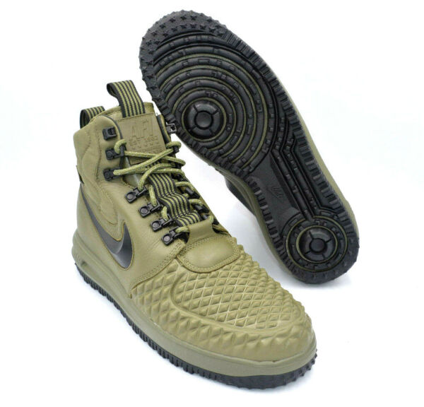 Nike LF1 Duckboot '17 Olive Green Air Force One Shoes [916682-202] Men Size 11.5