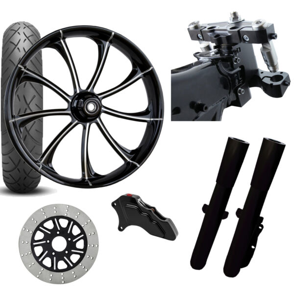 RC 26 Revolt Eclipse Wheel Tire Neck Rake Front End Package Harley Single Side