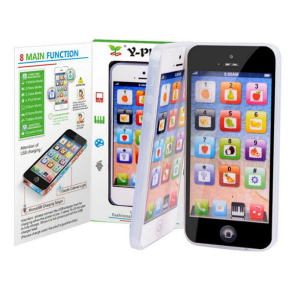 Baby Toy Y-phone Kids Children Phone Education Learning Machine Smart Touch LED