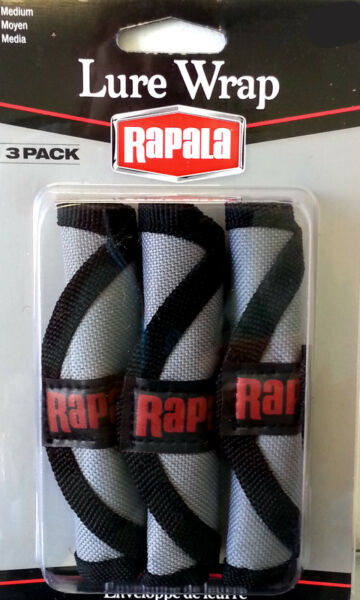 Rapala Lure Wrap Lure Protectors With Cover And Hook Guard 3 Pack $10.49