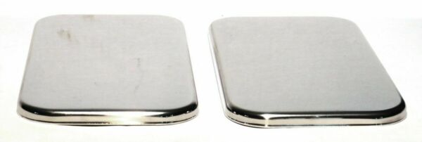 sleeper vent door covers 2 plain stainless for Freightliner Century Classic
