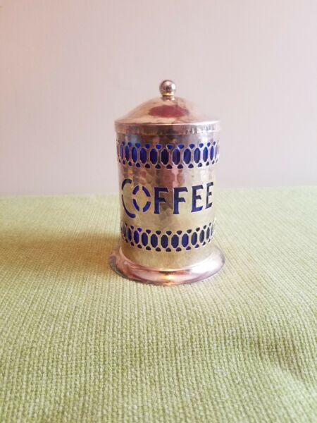 Silver Plated Coffee Storage Container Made In England Beautiful