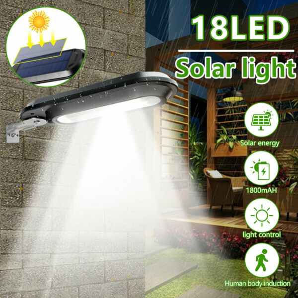 18 LED Solar Power Dusk to Dawn Light Outdoor Yard Garden Wall Lamp Waterproof