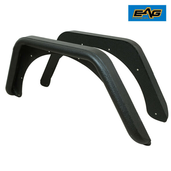 EAG Rear Fender Flares Corner Guards Armor Fits 87-96 Jeep YJ Wrangler