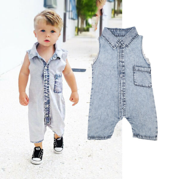 USA 0-4T Toddler Kid Baby Boy Girl Bodysuit Romper Jumpsuit Outfits Set Clothes