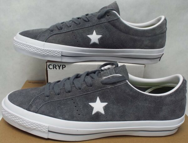 New Mens 13 Converse One Star Suede OX Thunder Gray Leather $80 153962C
