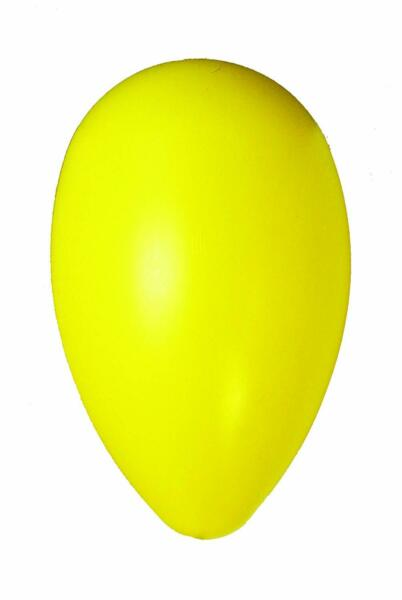Jolly Pets Egg 8 inch Yellow  Hard Plastic Chew Toy for Small Dogs $12.02